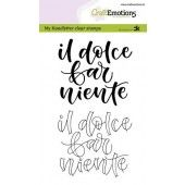 CraftEmotions clearstamps A6 - handletter - il dolce far niente (IT) Carla Kamphuis (09-19) (130501/1885)