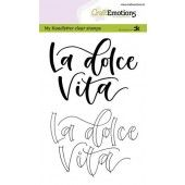 CraftEmotions clearstamps A6 - handletter - La dolce Vita (IT) Carla Kamphuis (09-19) (130501/1884)