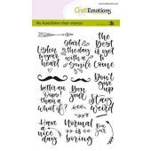 CraftEmotions clearstamps A6 - handletter - Quotes 1 (Eng) Carla Kamphuis (01-20) (130501/1816)*