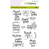 CraftEmotions clearstamps A6 - handletter - Quotes 2 (Eng) Carla Kamphuis (01-20) (130501/1817)*