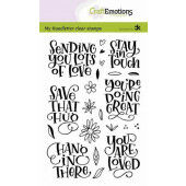 CraftEmotions clearstamps A6 - handletter - Sending you lots of love Carla Kamphuis (10-20)
