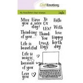 CraftEmotions clearstamps A6 - handletter - typewriter quotes (Eng) Carla Kamphuis (02-20) (130501/1820)