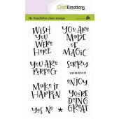 CraftEmotions clearstamps A6 - handletter - Wish you were here (Eng) Carla Kamphuis (10-20)