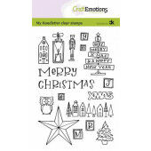 CraftEmotions clearstamps A6 - handletter - X-mas decorations 1 (Eng) Carla Kamphuis (09-20) (130501/2202)