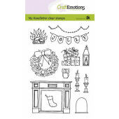 CraftEmotions clearstamps A6 - handletter - X-mas decorations 2 (Eng) Carla Kamphuis (09-20) (130501/2203)