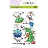 CraftEmotions clearstamps A6 - Jungle Christmas Carla Creaties (07-20)