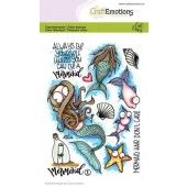 CraftEmotions clearstamps A6 - Mermaid 1 Carla Creaties (03-20)#