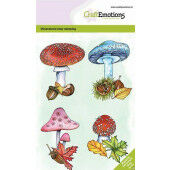 CraftEmotions clearstamps A6 - Paddenstoelen GB Dimensional stamp (09-20) (130501/0105)