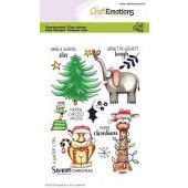 CraftEmotions clearstamps A6 - Savanne Christmas Carla Creaties (07-20)