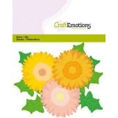 CraftEmotions Die - Gerbera Card 11x9cm - 6cm (09-19) (115633/0433)