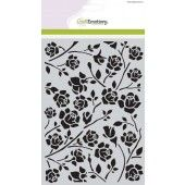 CraftEmotions Mask stencil Botanical rozen A5 (185070/1010)*