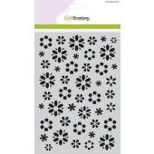 CraftEmotions Mask stencil fantasie bloem A5 (185070/1105)
