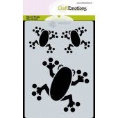 CraftEmotions Mask stencil Jungle - kikkers A6 Carla Creaties (05-20)