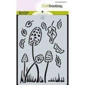 CraftEmotions Mask stencil Magic Forest - paddenstoelen Carla Creaties (09-19) (185070/0120)