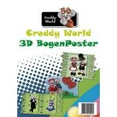 Creddy world 3D bogenposter