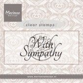 Clearstamp - Marianne Design - Stempel With sympathy  (CS0928)