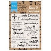 Marianne D - Clear Stamp - Doop en communie (NL) 84x103 mm  (CS1005 ) (20% KORTING)