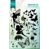 Marianne D Clear Stamps Silhouette Elfen & vlinders 150mmx115  mm (CS1016) (20% KORTING)*