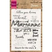 Marianne D Clear Stamps - Dream sentiments UK - 95x140mm (CS1018)*