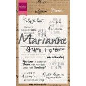 Marianne D Clear Stamps - Droom teksten (NL) - 94x140mm (CS1019)*