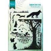 Marianne D Clear Stamps - Silhouette bos dieren - 110x150mm (CS1021)