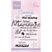 Marianne D Clear Stamps Mermaid sentiments by Marleen (Eng) CS1025 82x117 mm (06-19)