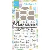 Marianne D Stamp & Die set Mini labels (NL) CS1028 (07-19)*