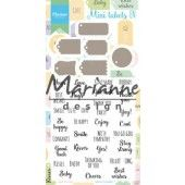 Marianne D Stamp & Die set Mini labels (Eng) CS1029 (07-19)*