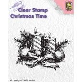 Nellies Choice - Clearstamp - Christmas Time - Candles (CT010)