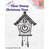 Nellies Choice - Clearstamp - Christmas Time - Clock (CT012) (AFGEPRIJSD)