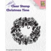 Nellies Choice - Clearstamp - Christmas Time - Wreath (CT013) (AFGEPRIJSD)