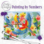 Dotty Design Painting by Numbers - Parrots