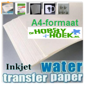 Decal Water transfer papier (A4-formaat) Voor Inktjet printer (Transparant)
