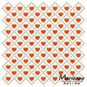 Marianne Design - Embossing folder Sweet hearts (DF3432) (25% KORTING)*