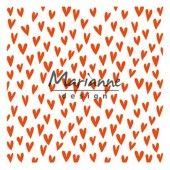 Marianne Design - Embossing folder - Trendy hartjes (DF3438) (25% KORTING)