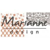Marianne D Embossing folder + die Anja`s flower border (DF3444)