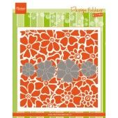 Marianne D Embossing folder Klaprozen DF3452 152x154mm (03-19)