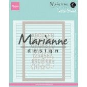 Marianne D Embossing folder Extra Karin Joan's Letter Board DF3454 152x154 mm (06-19)