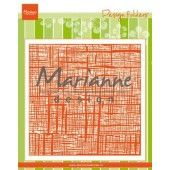 Marianne D Embossing folder Linnen DF3453 152x154 mm (06-19)*