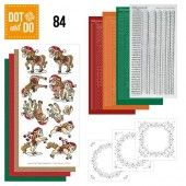 Hobbydots dot & do 084 - Yvonne Creations - Kerstpaarden