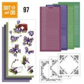 Hobbydots dot & do 097 - Purple Flowers