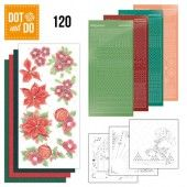 Hobbydots dot & do 120 - Jeanine's Art - Kerstbloemen
