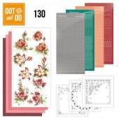 Hobbydots dot & do 130 - Precious Marieke - Timeless Red Flowers