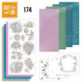 Hobbydots dot & do 174 - Yvonne Creations - Flowers in Pastel