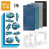 Hobbydots dot & do 176 - Yvonne Creations - Cars in Blue