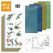 Hobbydots dot & do 182 - Precious Marieke - Blue Flowers