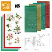 Hobbydots dot & do 185 - Jeanine's Art - Christmas Flowers - Pink Christmas Flowers