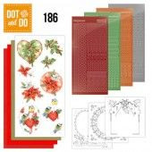 Hobbydots dot & do 186 - Jeanine's Art - Red Holly Berries