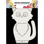 Dutch Doobadoo Card Art Kat A5 (470.713.767) (01-20)*