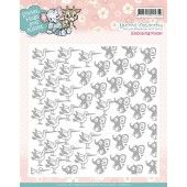 Embossing folder: Yvonne Creations - Smiles, Hugs and Kisses